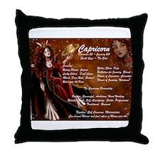 Goddess Capricorn Throw Pillow