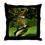 Glass Wing Butterfly Throw Pillow