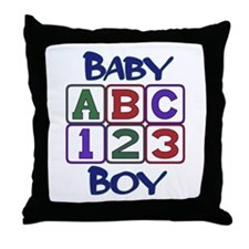 Baby Boy Blocks Throw Pillow