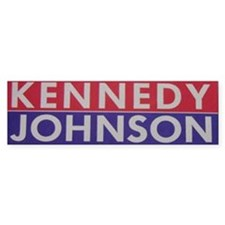 1960 Kennedy-Johnson Bumper Bumper Sticker