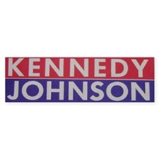 1960 Kennedy-Johnson Bumper Car Sticker