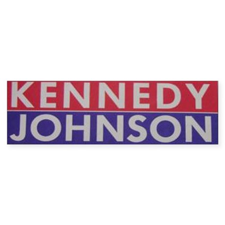 1960 Kennedy-Johnson Bumper Sticker