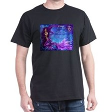 Goddess Pisces Black T-Shirt
