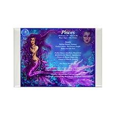 Goddess Pisces Rectangle Magnet