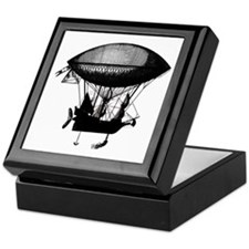 Steampunk pirate airship Keepsake Box