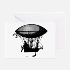 Steampunk pirate airship Greeting Card