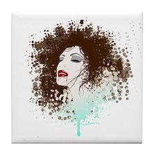 Splatter grunge vampire Tile Coaster
