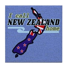 I Call New Zealand Home Tile Coaster