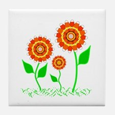 Candy Cornflowers Tile Coaster