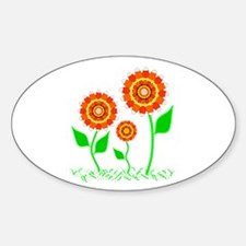 Candy Cornflowers Oval Decal