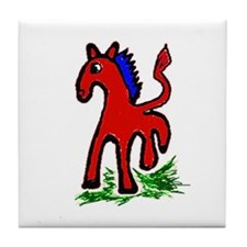 Funny Jumping horse Tile Coaster