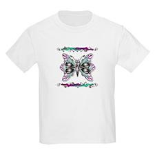 Girls Beautiful Butterfly Bling Light T-Shirt