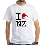 I Love New Zealand White T-Shirt