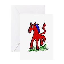 Funny Morgan horse Greeting Card