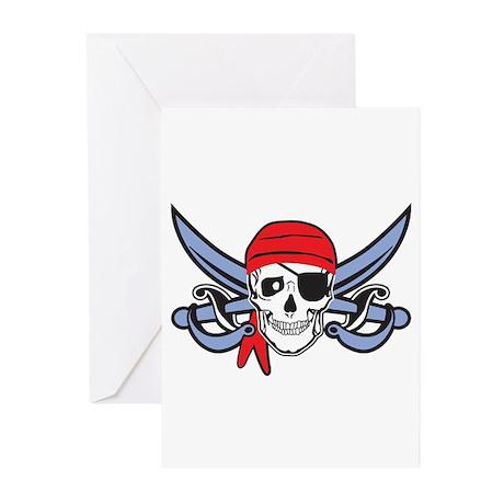 Pirate Skull Greeting Cards (Pk of 10)