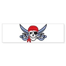 Pirate Skull Bumper Bumper Sticker