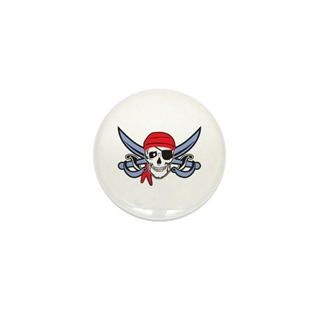 Pirate Skull Mini Button (10 pack)