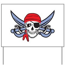 Pirate Skull Yard Sign