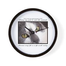 Cat fundraising Wall Clock