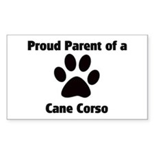 Proud: Cane Corso Rectangle Decal