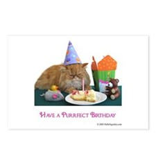 Purrfect Birthday Postcards (Package of 8)