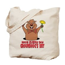 Cartoon Groundhog Tote Bag