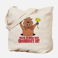 Cartoon Groundhog Tote Bag