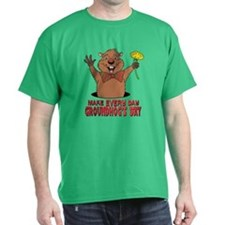 Cartoon Groundhog T-Shirt