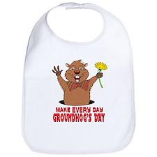 Cartoon Groundhog Bib