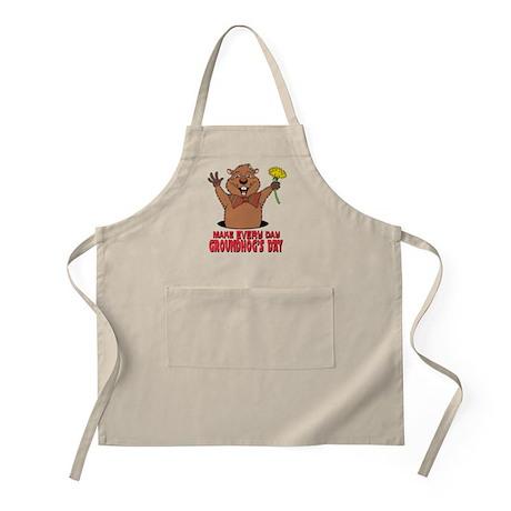 Cartoon Groundhog BBQ Apron