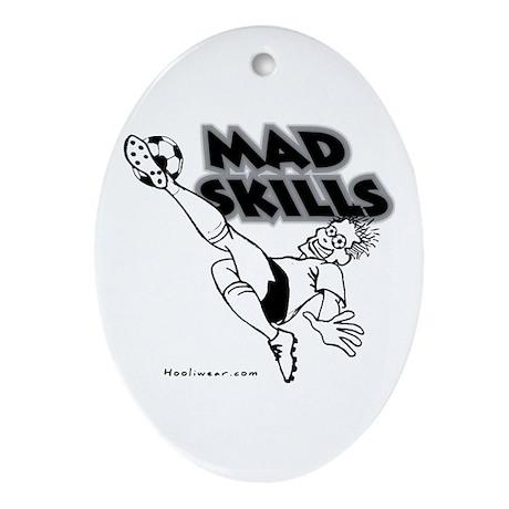 Mad Skills 2 Oval Ornament