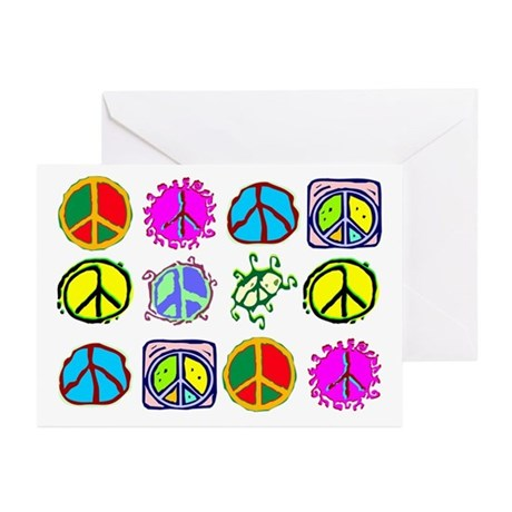 PEACE SYMBOLS Greeting Cards (Pk of 20)