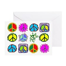PEACE SYMBOLS Greeting Card