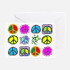 PEACE SYMBOLS Greeting Card