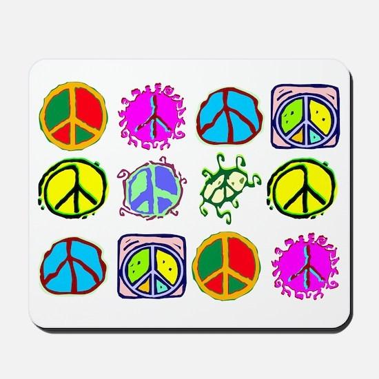 PEACE SYMBOLS Mousepad