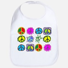 PEACE SYMBOLS Bib