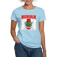 Midrealm Collegiate Women's Pink T-Shirt