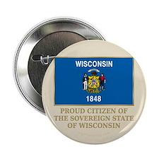 "Wisconsin Proud Citizen 2.25"" Button (10 pack)"