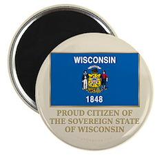 "Wisconsin Proud Citizen 2.25"" Magnet (10 pack)"
