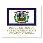 West Virginia Proud Citizen Small Poster