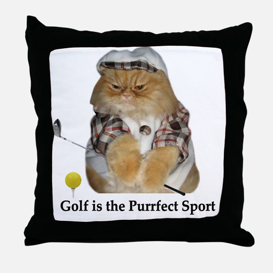 Golf is Purrfect Throw Pillow