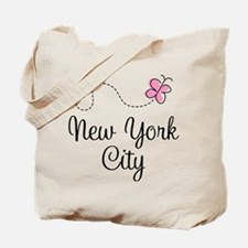 New York City Butterfly Tote Bag