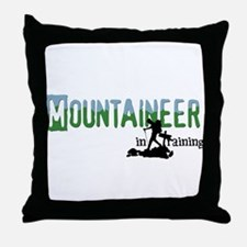 Cute Mountaineer Throw Pillow