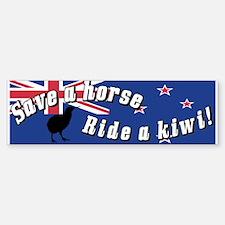 Save a Horse Ride a Kiwi Bumper Car Car Sticker