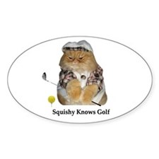 Squishy Knows Golf Oval Decal