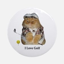 I Love Golf Ornament (Round)