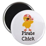 Pirate Chick Magnet