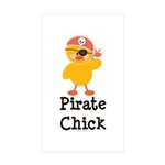 Pirate Chick Rectangle Sticker 10 pk)