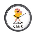 Pirate Chick Wall Clock