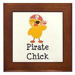 Pirate Chick Framed Tile